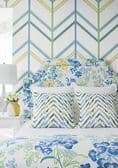 Thibaut Ventura Wallpaper in Blue and Pink